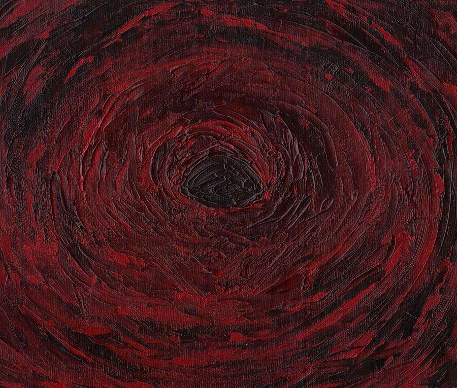Swirls Painting - The Black Hole by Jill Christensen