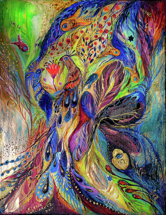 Original Painting - The Black Iris by Elena Kotliarker