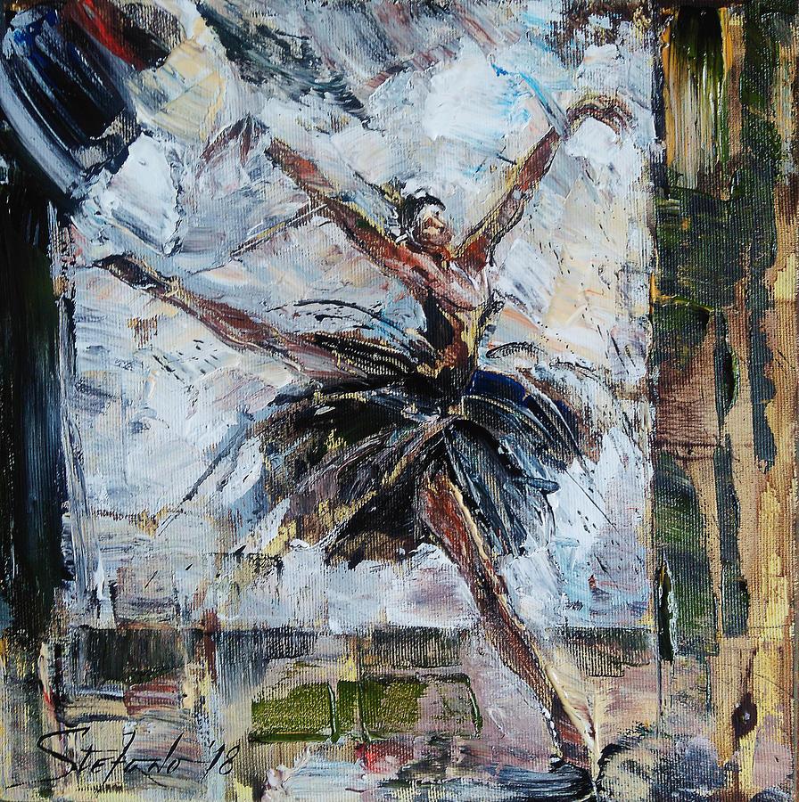 Swan Painting - The Black Swan by Stefano Popovski