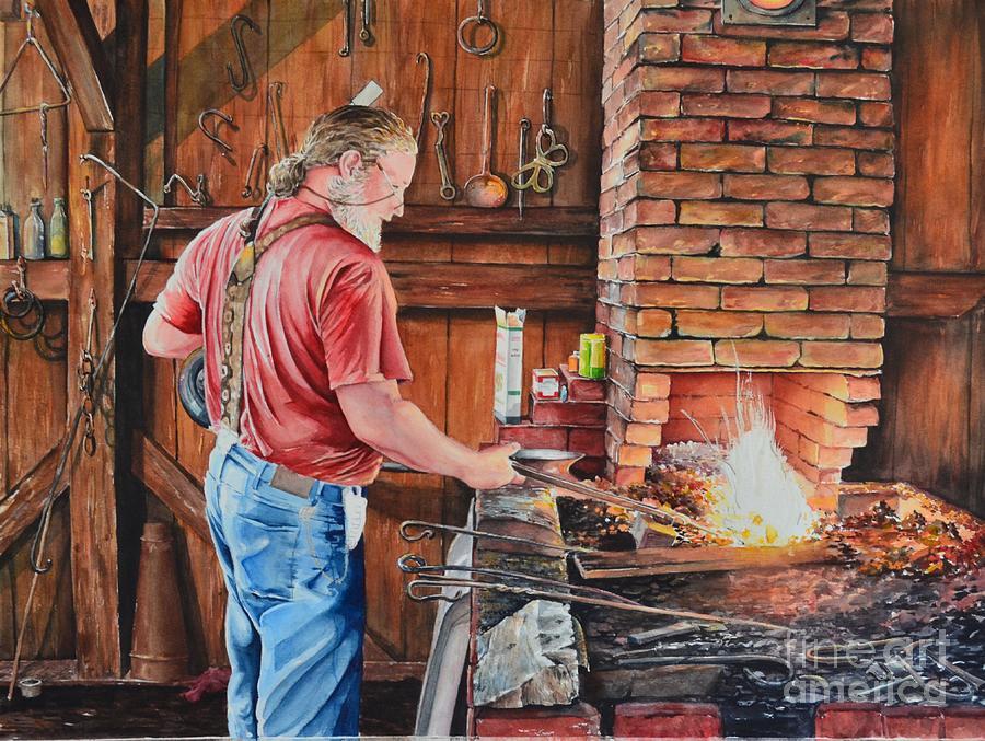 Blacksmith Painting - The Blacksmith by Gina Croce