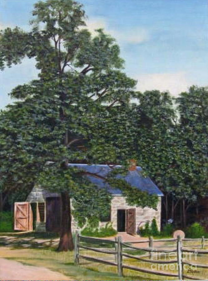 Landscape Painting - The Blacksmith Shop by Donald Hofer