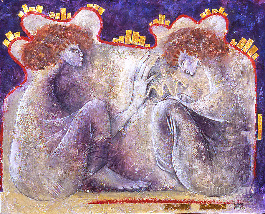 Healing Mixed Media - The Blessing by Marne Adler