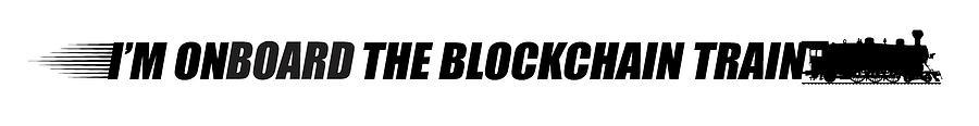 Cryptocurrency Digital Art - The Blockchain Train by Daniel Hagerman