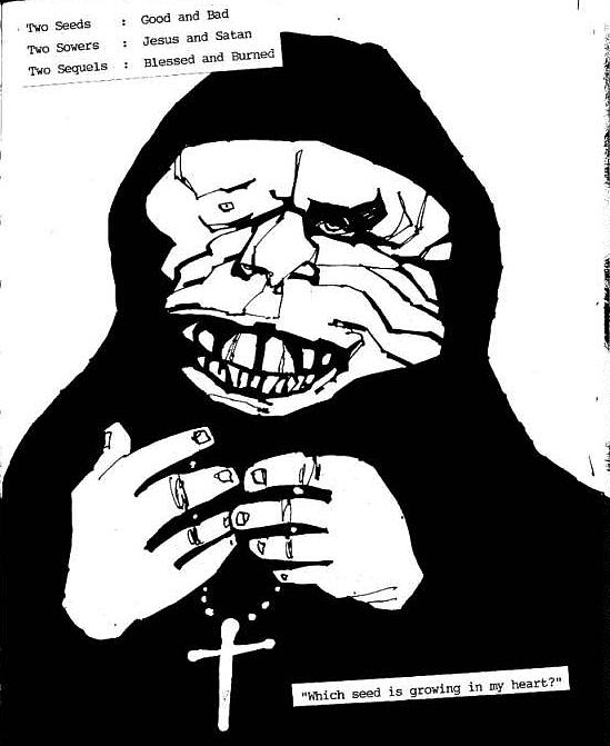 Religious Iconography Drawing - The Blood Of Fleas Two by Rob Moran