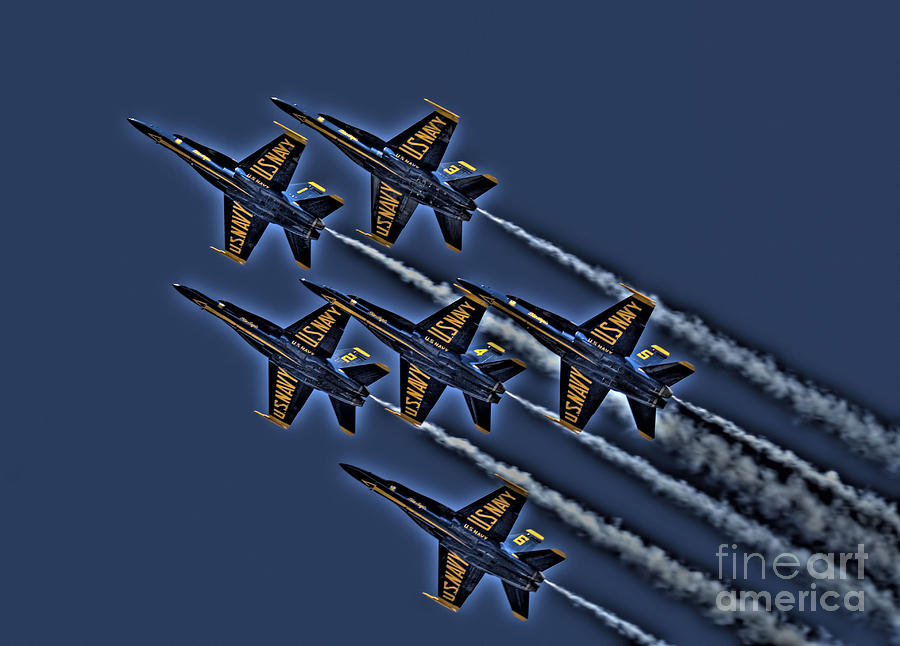 Planes Photograph - The Blue Angels by Corky Willis Atlanta Photography