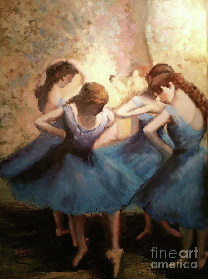 The Blue Ballerinas - A Edgar Degas Artwork Adaptation by Rosario Piazza