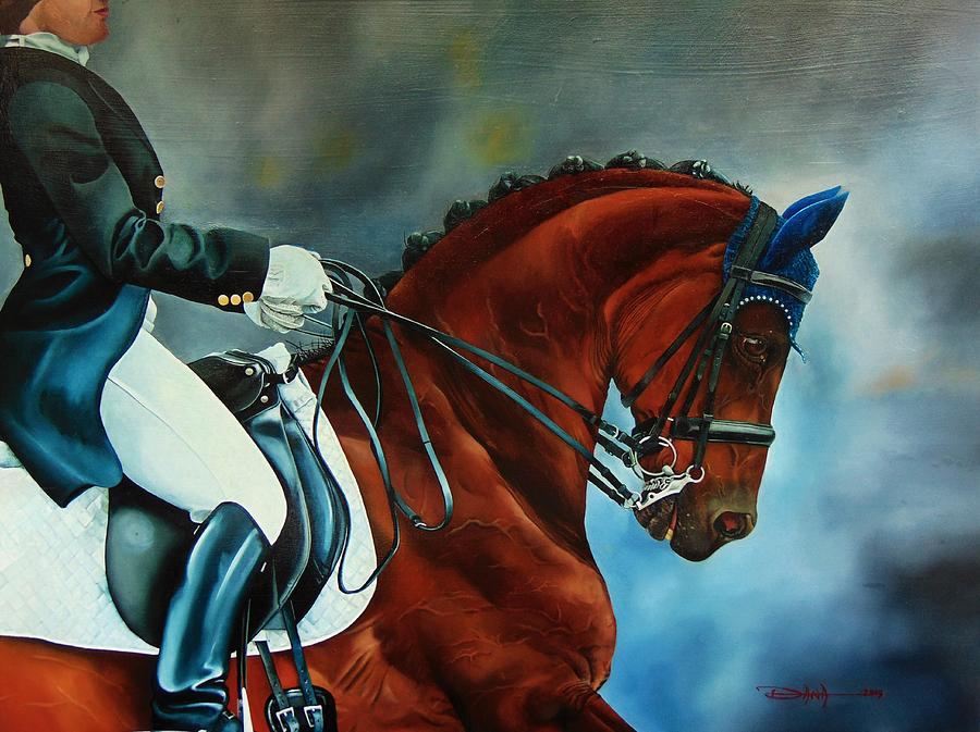 Horse Painting - The Blue Bonnet by Dana Newman