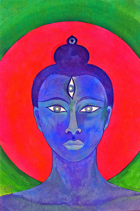 The Blue Buddha Painting by Jennifer Baird