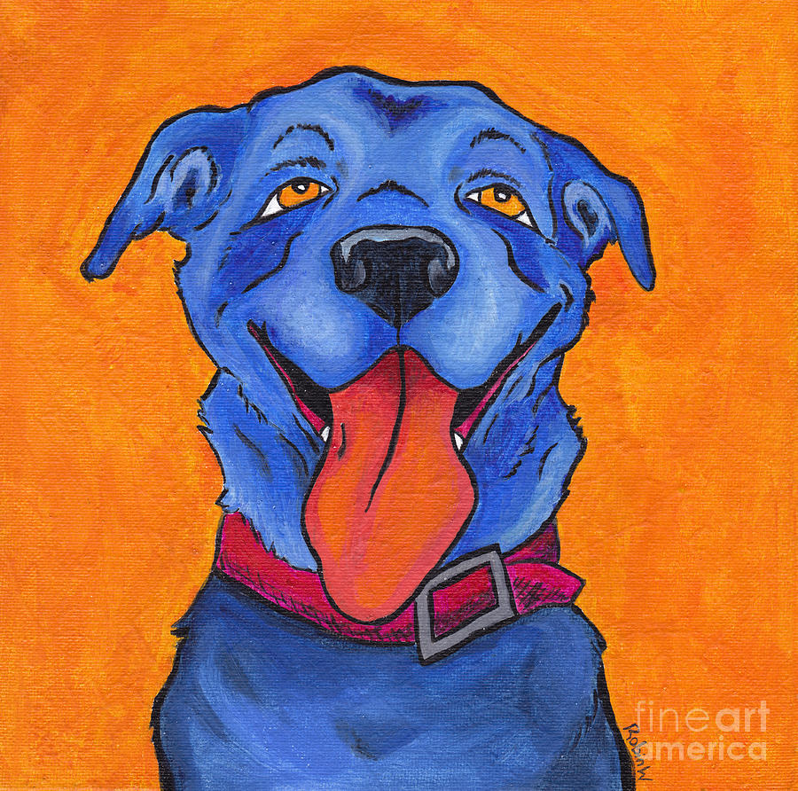Dog Painting - The Blue Dog Of Sandestin by Robin Wiesneth