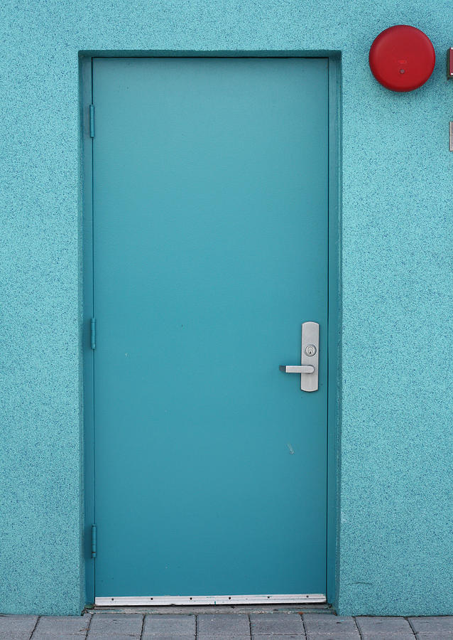 Blue Door Photograph - The Blue Door by Carl Purcell