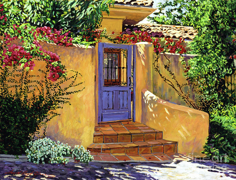 Spanish Painting - The Blue Door by David Lloyd Glover & The Blue Door Painting by David Lloyd Glover pezcame.com