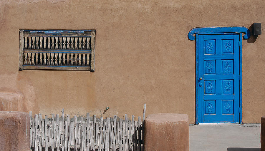 New Mexico Photograph - The Blue Door by Gary Cloud