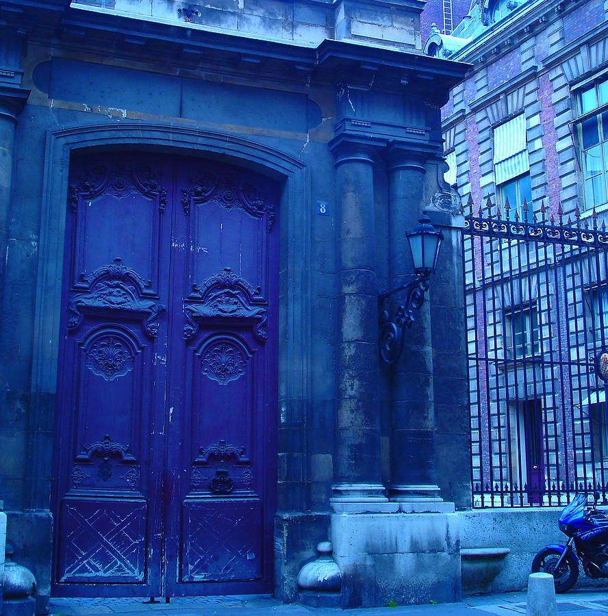 Paris Photograph - the blue doors in Paris by Maria Curcic  sc 1 st  Fine Art America & the blue doors in Paris Photograph by Maria Curcic