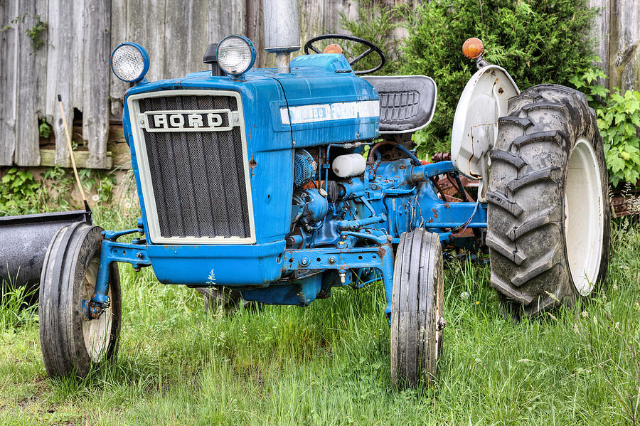 Farm Tractor Photograph - The Blue Ford by JC Findley