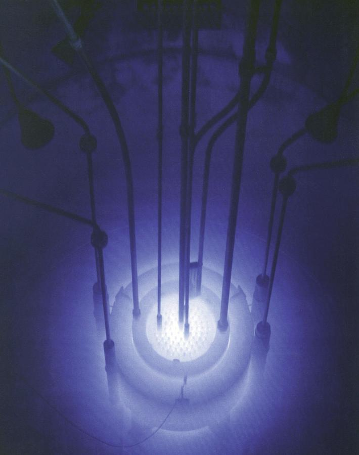History Photograph - The Blue Glow Of Nuclear Reactors by Everett