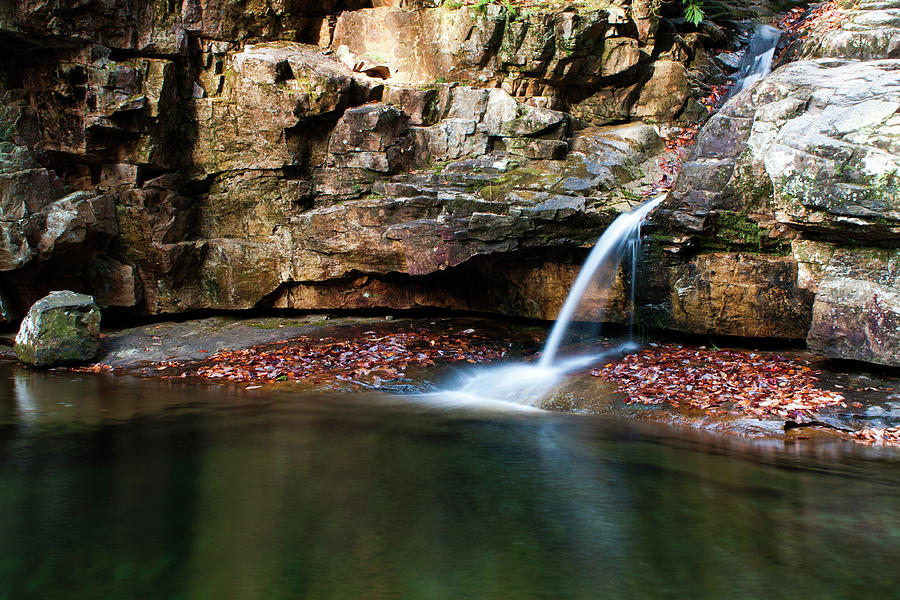 Waterfall Photograph - The Blue Hole in November #1 by Jeff Severson