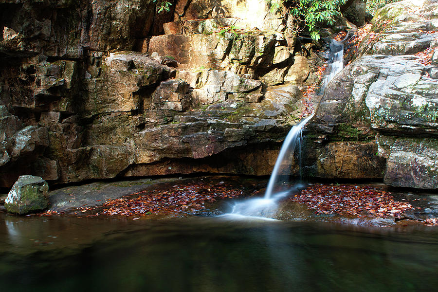 Waterfall Photograph - The Blue Hole in November #2 by Jeff Severson