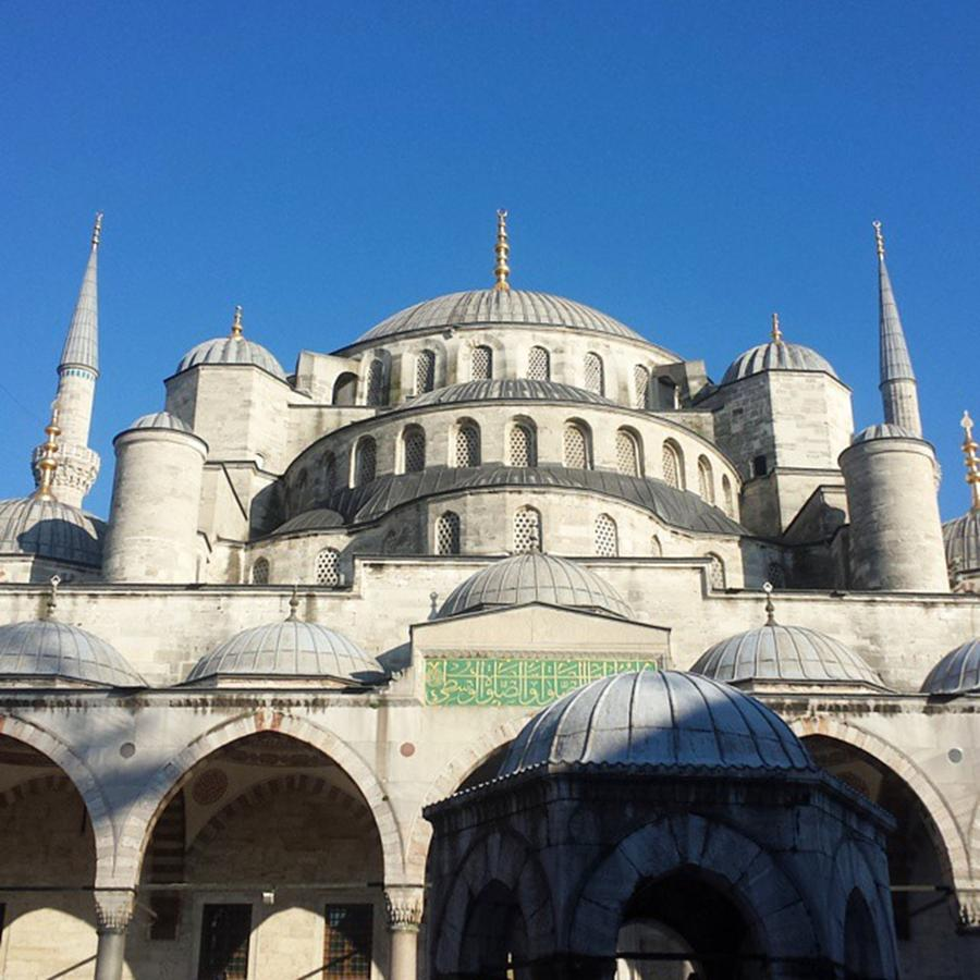 Travel Photograph - The Blue Mosque In #instanbul With A by Dante Harker