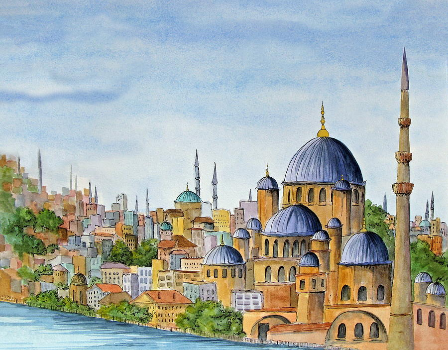 Acrylic Paintings Mosque