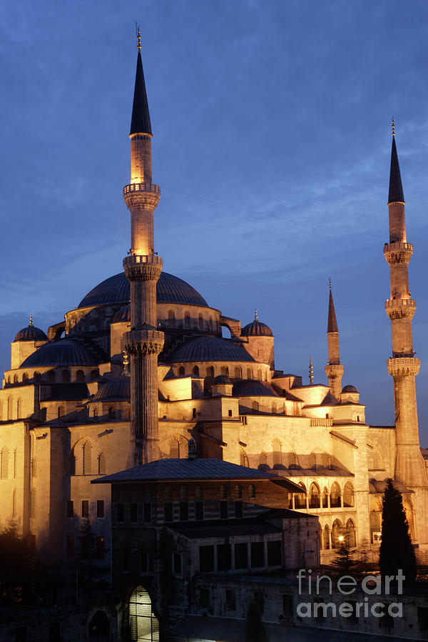 Architectural Photograph - The Blue Mosque Istanbul by Steve Outram