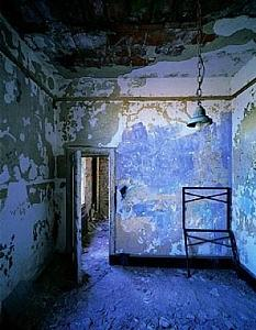 Blue Photograph - The Blue Room - Ellis Island by Stephen Wilkes