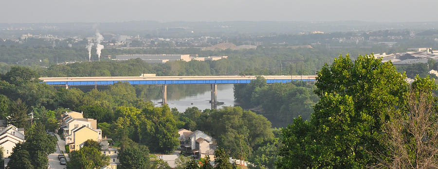 The Blue Route 476 Bridge Over The Schuylkill River West Conshoh Photograph By Bill Cannon