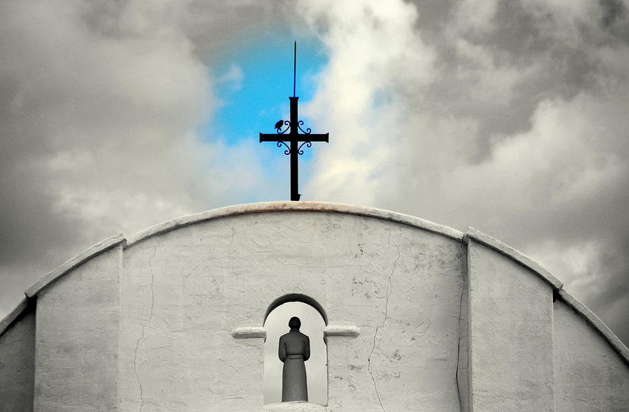 Religion Photograph - The Blue Spot In The Sky by Susanne Van Hulst