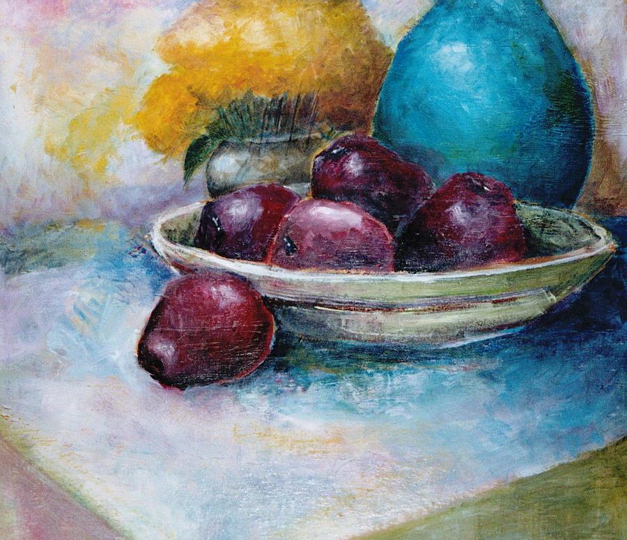 Jar Painting - The Blue Vase Iv by Jun Jamosmos