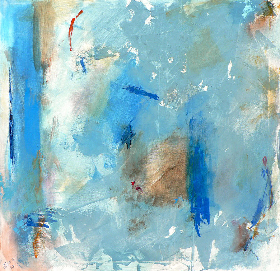 Abstract Painting - The Blues by Jacquie Gouveia