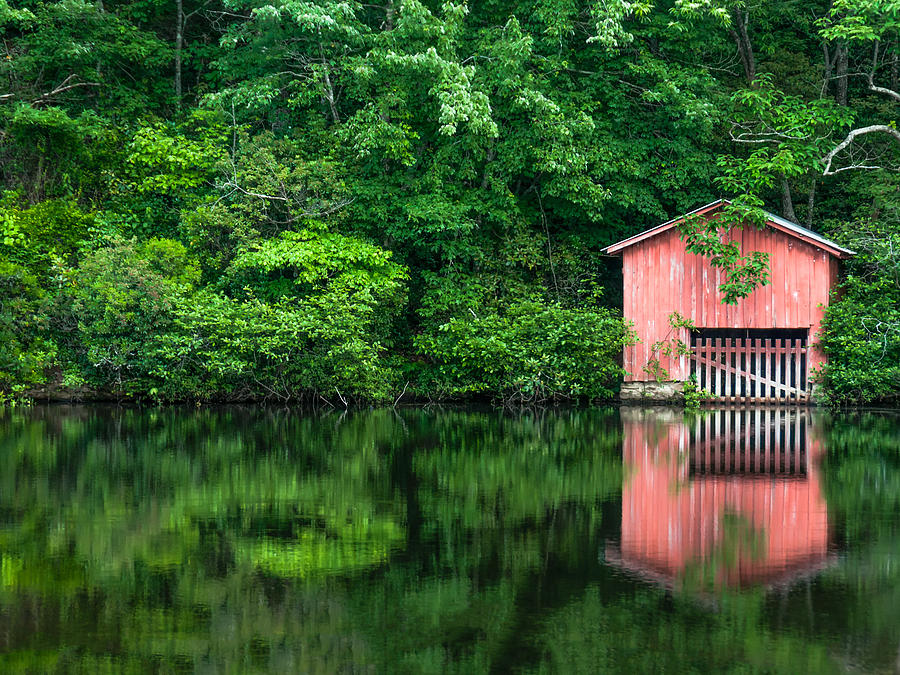 Boat House Photograph - The Boat House At Desoto Falls by Phillip Burrow