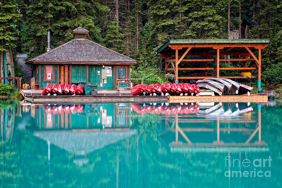 The Boat House at Emerald Lake in Yoho National Park by Bryan Mullennix
