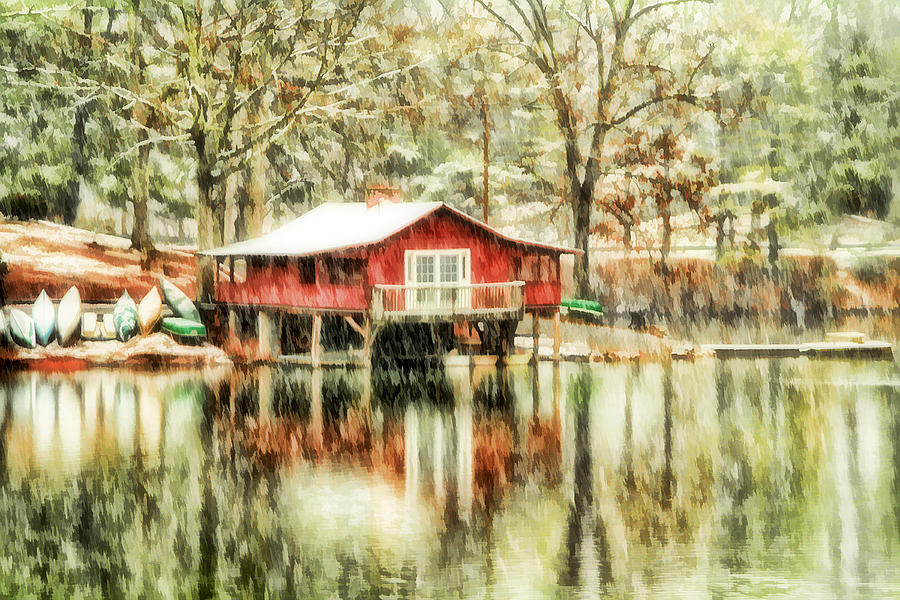 Canoes Photograph - The Boat House by Darren Fisher