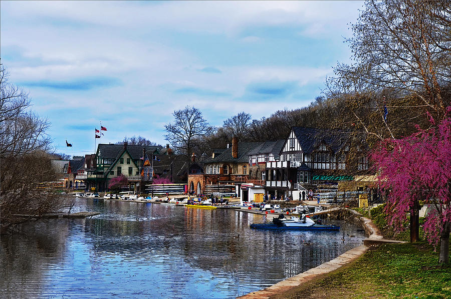 Philadelphia Photograph - The Boat House Row by Bill Cannon