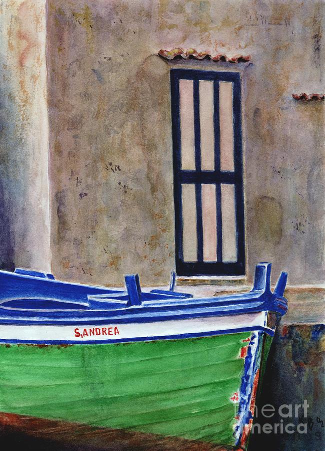 Boat Painting - The Boat by Karen Fleschler