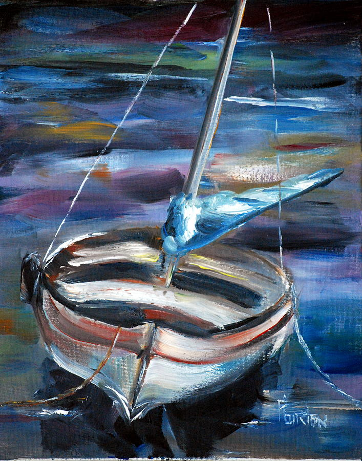 Boat Painting - The Boat by Phil Burton