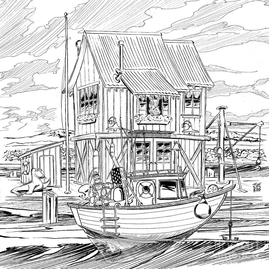 Street Scape Digital Art - The Boathouse by Joe King
