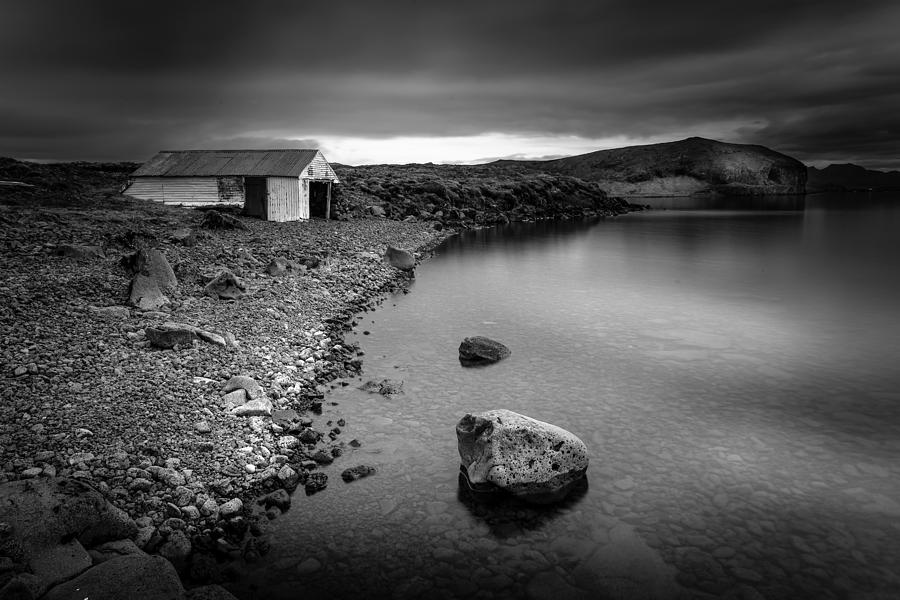 Iceland Photograph - The Boathouse by Peter OReilly