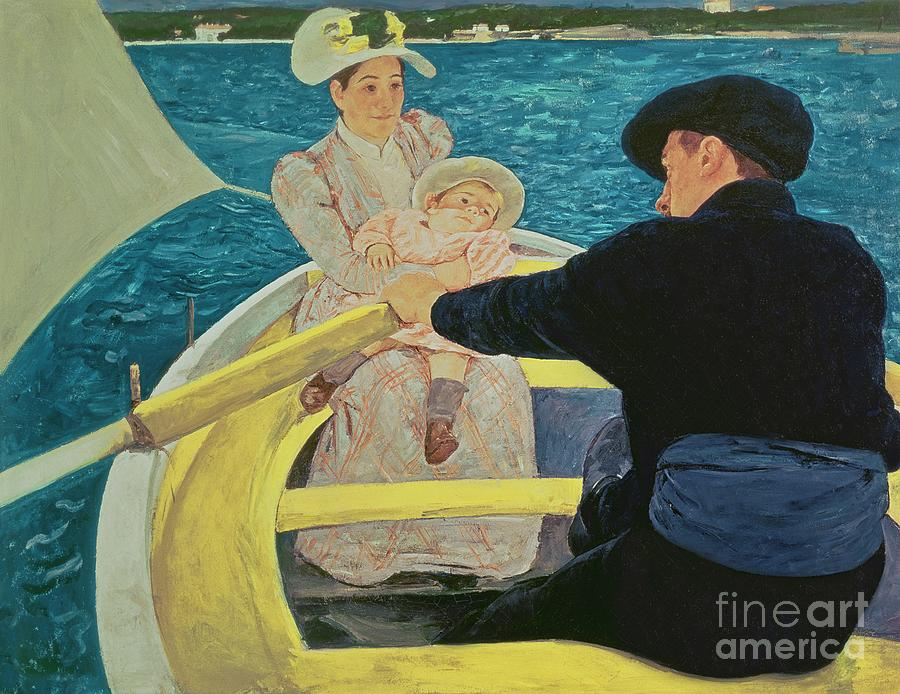 The Painting - The Boating Party by Mary Stevenson Cassatt