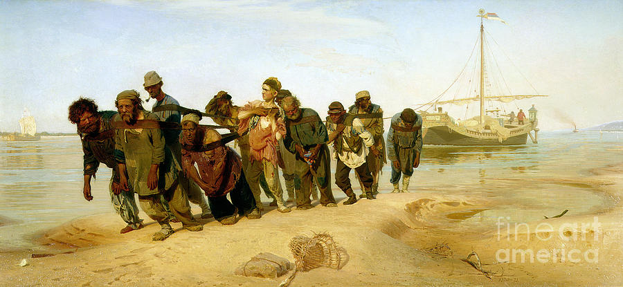 The Painting - The Boatmen On The Volga by Ilya Efimovich Repin