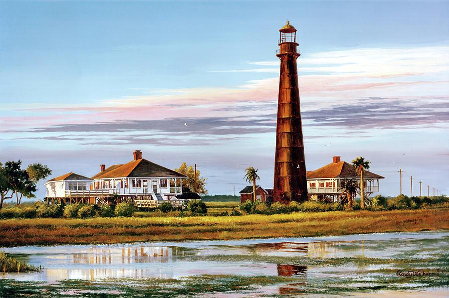 Bolivar Painting - The Bolivar Lighthouse by Randy Welborn