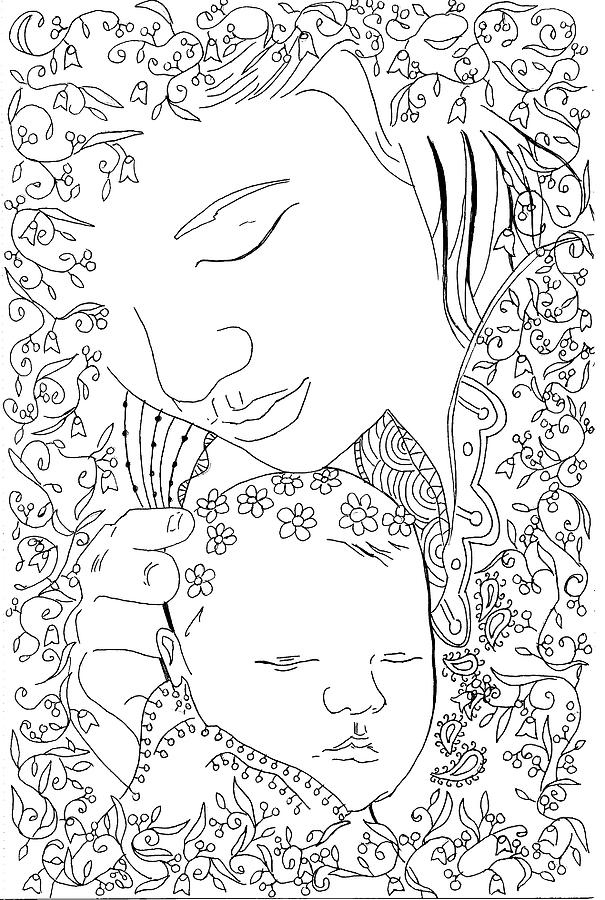 Madonna And Child Photograph - The Bond by Kate Evans