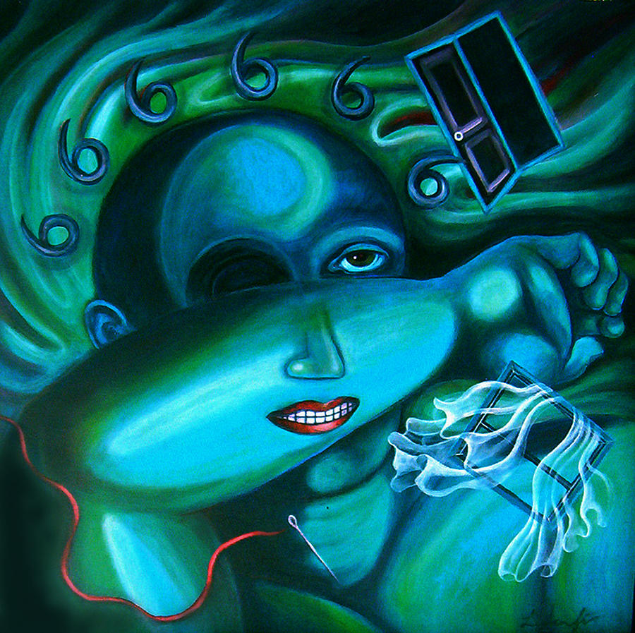 Night Painting - The Boogieman by Lina Scarfi