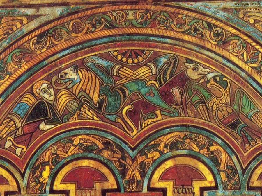 The Painting - The Book Of Kells by Celtic Monks