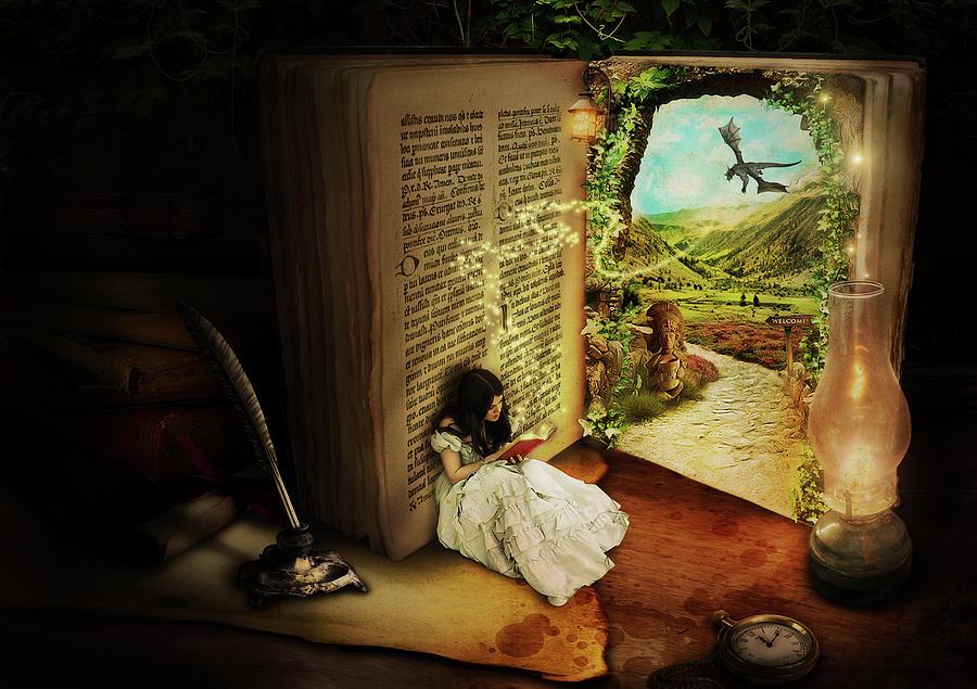 Book Digital Art - The Book Of Secrets by Donika Nikova
