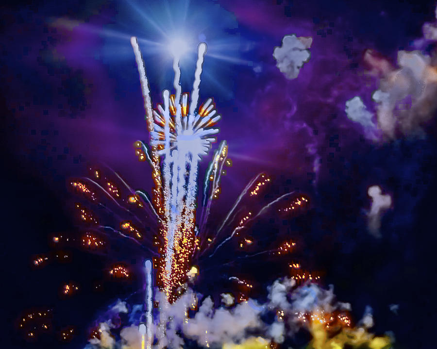 Fireworks Photograph - The Boom by Larry Bodinson