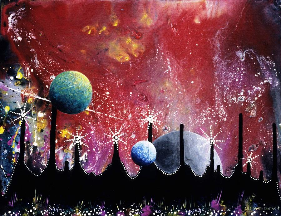 Spiritual Painting - The Border Of Orion by Lee Pantas