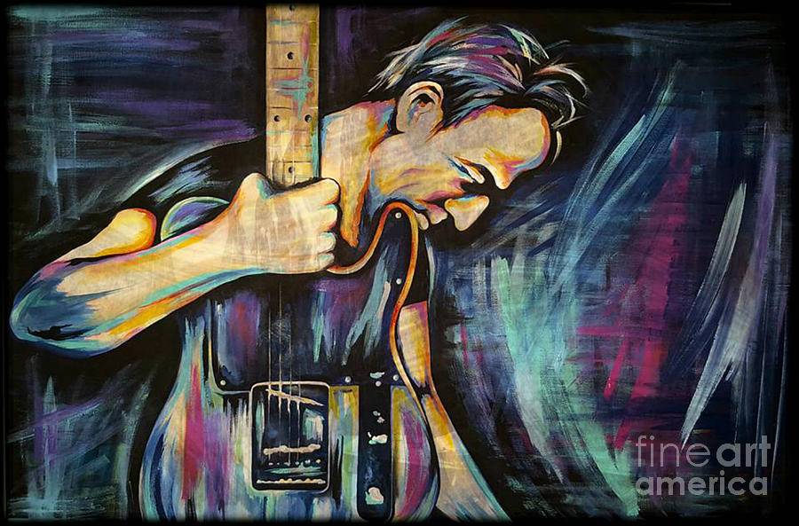 The Boss Painting - The Boss Bruce Springsteen by Amy Belonio