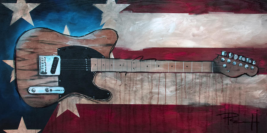 Bruce Springsteen Painting - The Boss by Sean Parnell