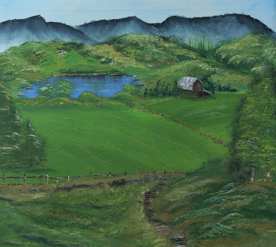 Farm Painting - The Bottoms by Robin Lee
