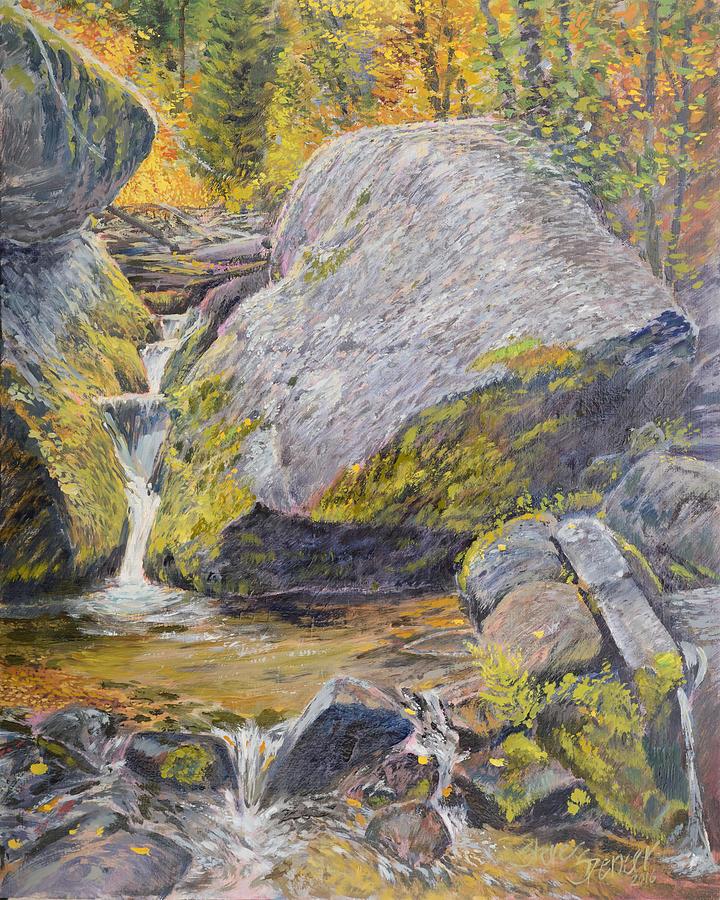 Landscape Painting - The Boulder by Steve Spencer